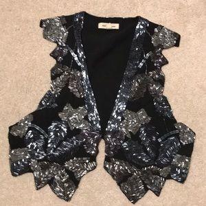 Sequin black vest